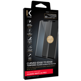 Curved Edge-to-Edge Tempered Glass Screen Protector for Huawei Mate 20 Pro, Black