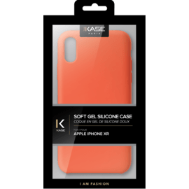 Custodia in silicone morbida per Apple iPhone XR, arancione piccante