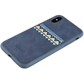 Bohemia Slim Case with Credit Card Slot for Apple iPhone X/XS, Persian Blue