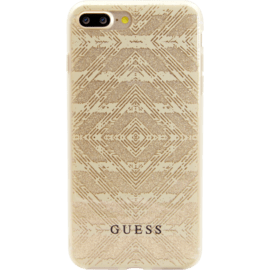 Case Guess Coque AZTEC 3D Effect pour Apple iPhone 7 Plus/ 8 Plus, Étincelante Dorrée