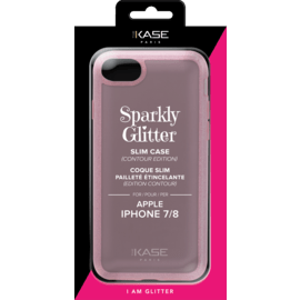 Sparkly Glitter Slim Case (Contour Edition) for Apple iPhone 7/8, Rose Gold