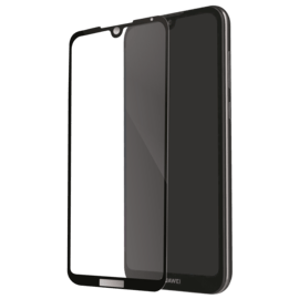 Full Coverage Tempered Glass Screen Protector for Huawei Y5 2019, Black