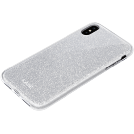 Sparkly Glitter Slim Case for Apple iPhone XS Max, Silver