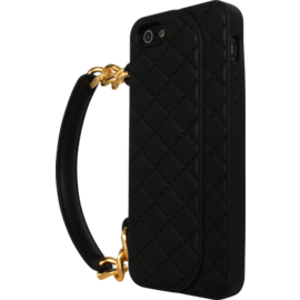 Case for Apple iPhone 5/5s/SE, silicone-padded Handbag, Black