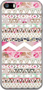 Case Girly Pink White Floral Abstract Aztec Pattern by Girly Trend