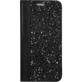 Case Rhinestone Bling Wallet case for Samsung Galaxy S7, Midnight Black