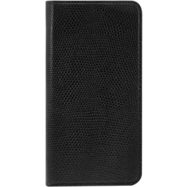 Case Diarycase Genuine Leather flip case with magnetic stand for Samsung Galaxy S6 Edge, Lizard Black