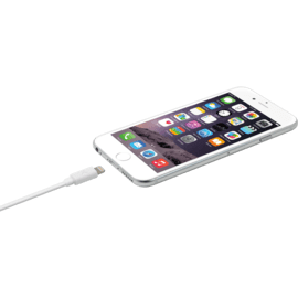 Fast Charge 2.4A max Apple MFi certified lightning charge/ sync cable (2M), Bright White