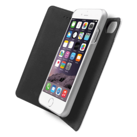 2-in-1 Magnetic Slim Wallet & Case for Apple iPhone 6/6s/7/8, Silver