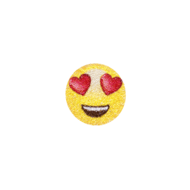 Swarovski® Emoji Crystal Sticker, Heart Face