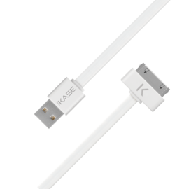 Flat Cable 30-pin to USB (1m) for Apple, Bright White