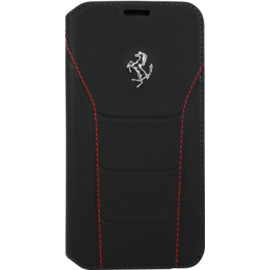Case Ferrari 488 Genuine leather Flip case for Samsung Galaxy S7 Edge, Black
