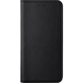 Folio flip case with card slot & stand for Huawei Y6 (2018) , Black