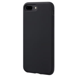 Anti-Shock Soft Gel Silicone Case for Apple iPhone 7/8 Plus, Satin Black