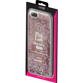 Bling Bling Hybrid Glitter Case for Apple iPhone 7/8, Pink Lady
