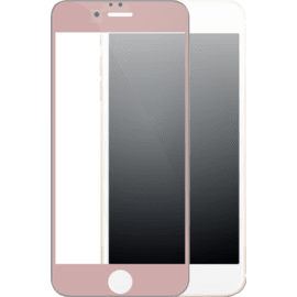 Case Full Coverage Tempered Glass Screen Protector for iPhone 6/6s, Rose Gold