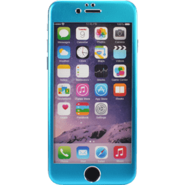 Case Titanium Alloy Tempered Glass Screen Protector for Apple iPhone 6/6s, Blue