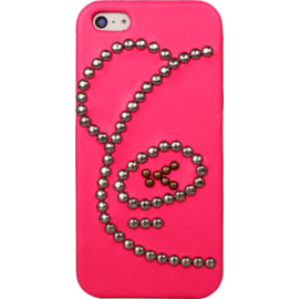 Case for Apple iPhone 5/5s/SE, Pink studded Bear