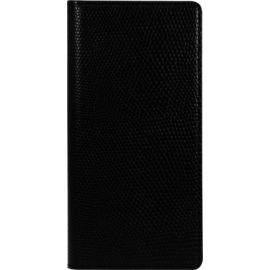 Case Diarycase Genuine Leather flip case with magnetic stand for Samsung Galaxy S7, Lizard Black