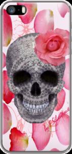 Case SKULL ROMANCE Tete de mort & Fleur by FLORENCE SELAUD0UX
