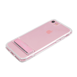 Invisible Slim Case with Stand for Apple iPhone 6/6s/7/8/SE 2020, Rose Gold
