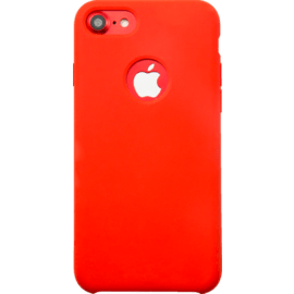 Case Soft Gel Silicone Case for Apple iPhone 7, Fiery Red
