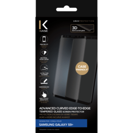 Advanced Curved Edge-to-Edge Tempered Glass Screen Protector for Samsung Galaxy S9+, Black