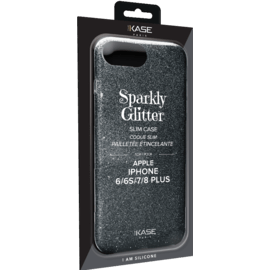 Sparkly Glitter Slim Case for Apple iPhone 6/6s/7/8 Plus, Black