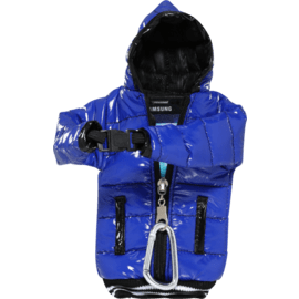 Case Down Jacket Phone Pocket with Lanyard (5 inch), Blue