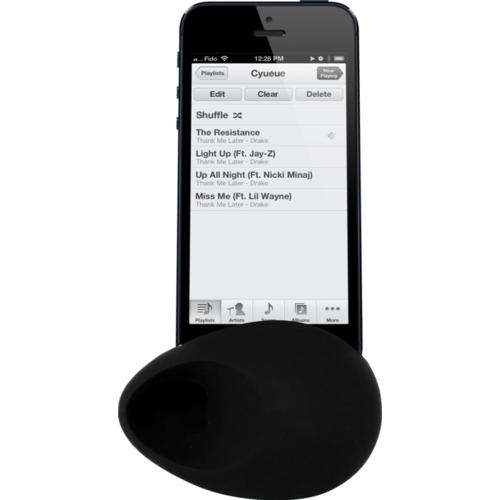Case Egg Sound Amplifier for Apple iPhone 4/4S, Black
