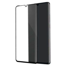 Curved Edge-to-Edge Tempered Glass Screen Protector for Huawei  P30 Pro, Black
