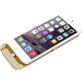 Power case 2800 mAh per Apple iPhone 6/6s, oro