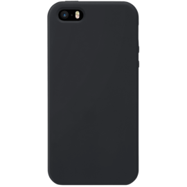 Soft Gel Silicone Case for Apple iPhone 5/5s/SE, Satin Black