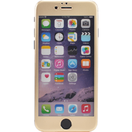 Case Titanium Alloy Tempered Glass Screen Protector for Apple iPhone 6/6s, Gold