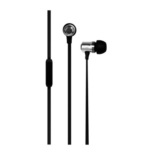 Case Stereo In-Ear Headphones with Mic, Silver
