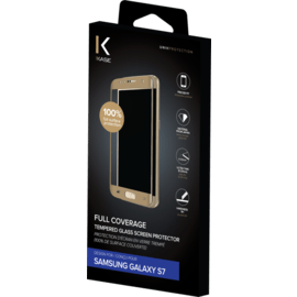 Full Coverage Tempered Glass Screen Protector for Samsung Galaxy S7, Or