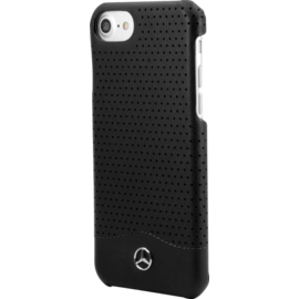 Mercedes-Benz Pure Line Genuine perforated leather case for Apple iPhone 7/8, Black
