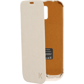 Case Protective Power Flip Case 2500mAh for Samsung Galaxy S5, Gold