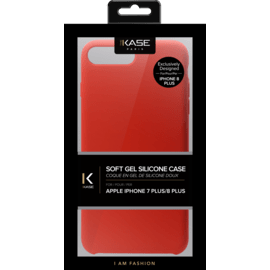 (Special Edition) Soft Gel Silicone Case for Apple iPhone 7/8 Plus, Fiery Red
