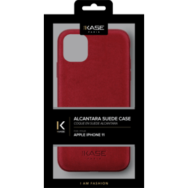 Alcantara Suede Case for Apple iPhone 11, Ruby Red