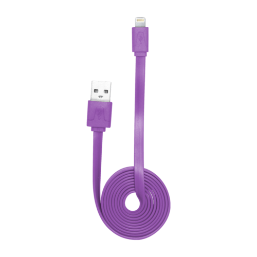 Case Lightning Flat cable to USB (1m), Purple