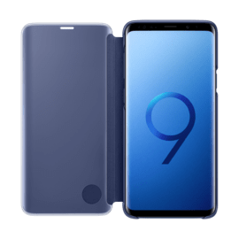 Clear View cover avec fonction Stand Blue Galaxy S9+