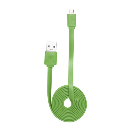 Case Cable plat vers Micro USB (1m) pour Android, Vert