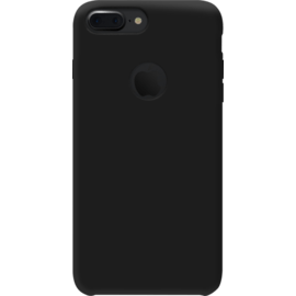Case Coque en gel de silicone doux pour Apple iPhone 7 Plus, Noir Satin