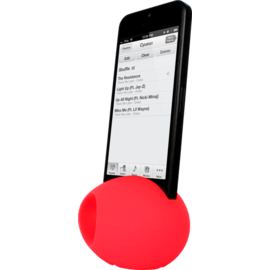 Egg Shaped Sound Amplifier for Apple iPhone 6/6s/7/8, Red