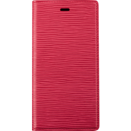 Diarycase 2.0 Genuine Leather flip case with magnetic stand for Apple iPhone XS Max, Maroon Red