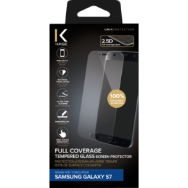 Full Coverage Tempered Glass Screen Protector for Samsung Galaxy S7, Transparent