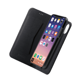 2-in-1 Magnetic Slim Wallet & Case for Apple iPhone X/XS, Black