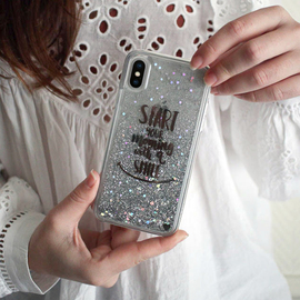 Custodia glitter Bling Bling ibrida per Apple iPhone X / XS, la tua migliore mattinata