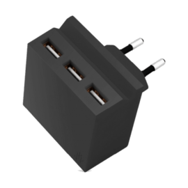 MINI HIDE Black - Hub charger / 3 USB ports including phone stand